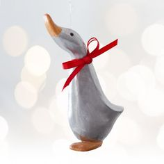 Silver duck Magnet #Christmas Decoration