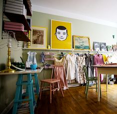 30 Clever and Chic DIY Clothing Storages. Hanging a ladder against the wall for storage is brilliant!