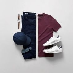 Men Casual T-Shirt Outfit 🖤 Very Attractive Casual Outfit Grid, Men Fashion Show, Men's Fashion, Minimal Fashion, Fashion Pants, Fashion Styles, Street Fashion, Fashion Outfits, Sneakers Outfit Men, White Sneakers