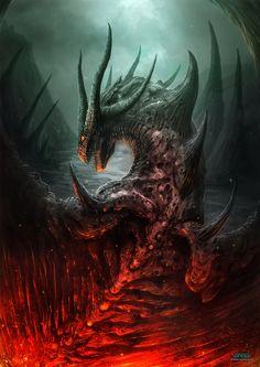 Dragon Concept Art by Francisco Garces Magical Creatures, Fantasy Creatures, Dragon Medieval, Cool Dragons, Dragon's Lair, Dragon Artwork, Dragon Pictures, Fire Dragon, Mythological Creatures