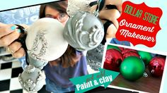 How to turn plastic ornaments from the dollar store into ornate painted decor with DIY Paint and clay moulds from Iron Orchid Design by Prima. Click here to ...