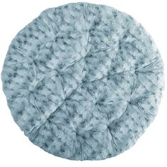 Papasan Cushion - Fuzzy Smoke Blue | Pier 1 Imports