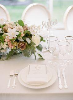 Classic garden party table decor: http://www.stylemepretty.com/2016/05/04/new-york-outdoor-garden-wedding/ | Photography: Heather Waraska - http://heatherwaraksa.com/