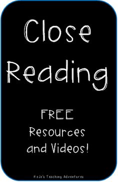 Close Reading - What's It All About? Great information resources