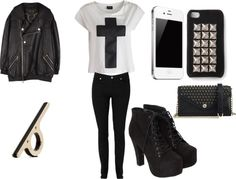 """""""Untitled #197"""" by matilde-aguiar on Polyvore minus the jacket"""