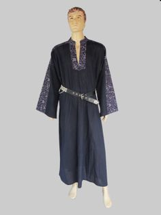 Mens Ritual Robe  Medieval Renaissance Wiccan in by NitisClothing, $59.00
