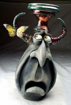 Aren't we all just a little afraid of our creative butterflies? Mitchell Grafton, sculpture - ego-alterego.com