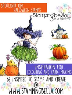 Spotlight On Halloween Stamps at Stamping Bella. Click through for inspiration.