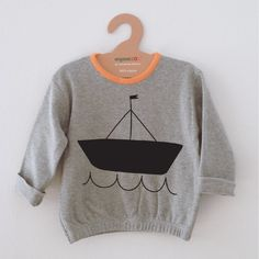 Grey My Boat Sweatshirt via organiczoo. Click on the image to see more!