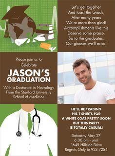 Med School Party Invite