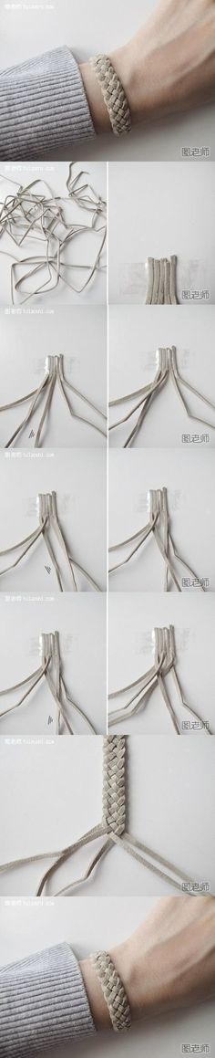 How to make your very unique bracelet step by step DIY instructions by bloknot