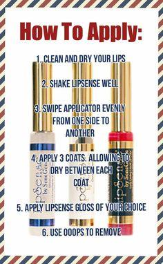 LipSense Distributor 198836 940-447-0975 How to apply Lipsense