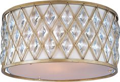 """View the Maxim 21452 3 Light 18"""" Wide Flush Mount Ceiling Fixture from the Diamond Collection at LightingDirect.com."""