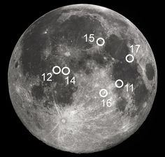 from-the-earth-to-the-moon13:  A Map of the Apollo Landing Sites on the Moon Apollo 11- Sea of Tranquility Apollo 12- Ocean of Storms Apollo...
