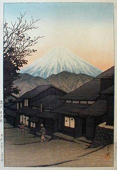 hanga gallery . . . torii gallery: Yui, Suruga by Kawase Hasui