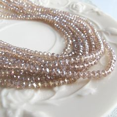 Rondelle crystal beads 60 inch 5 strands 2012 fashion by FARRAgem
