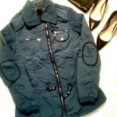 20% off 7FOR ALL MANKIND sale ends 1/2 20% off listed prices. Price is firm.. Blue rain jacket, with out the hood. Only wore it twice Jackets & Coats