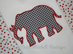 Applique Elephant embroidery Design 4x4 by BeauMitchellBoutique, $6.00