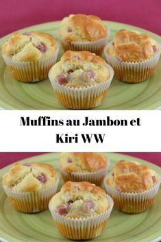 Muffins au Jambon et Kiri WW No Salt Recipes, Ww Recipes, Batch Cooking, Cooking Time, Weigh Watchers, Brunch, Light Cakes, Cake Factory, Yummy Food