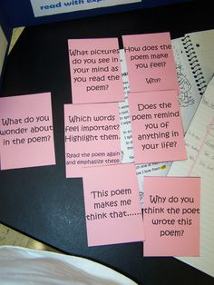 Poetry Response Prompts to help children think about poems they're reading.