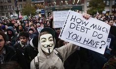 A large gathering of protesters affiliated with the Occupy Wall Street Movement in 2011. Photograph: Spencer Platt/Getty Images