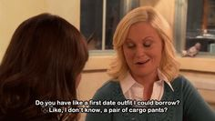 You become overwhelmed at the thought of having to pick a first-date outfit.