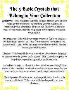 5 crystals for your collection. Chakra Healing, Crystal Healing, Be True To Yourself, Create Yourself, Rose Quartz Meaning, Meant To Be, Spirituality, Facts, Thoughts