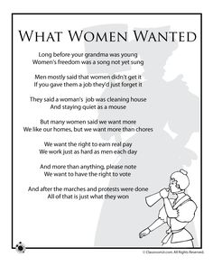 black history poems   Women's History Month Poems for Kids ...