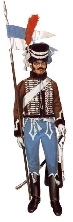 Рядовой 2-го гусарского полка в парадном мундире, 1801-1802