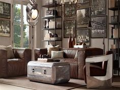 Aviation Furniture Inspired Restoration Hardware