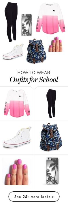 """""""Popular Looks - High School #4"""" by ashleymmck on Polyvore featuring Victoria's Secret, Converse, Aéropostale, Zero Gravity, women's clothing, women, female, woman, misses and juniors"""