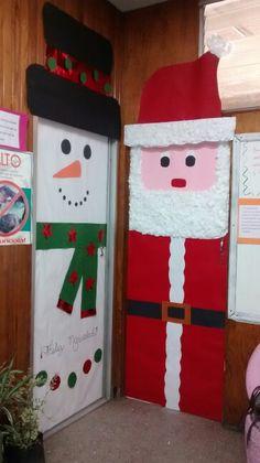 Nuevas puertas navide as para decorar nuestras clases y for Adorno navidad puerta entrada
