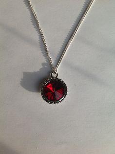 Swarovski Birthstone Pendant Necklace. January