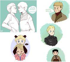 Jaime x Brienne tumblr dump by BlackNina.deviantart.com on @DeviantArt  <3 too cute!
