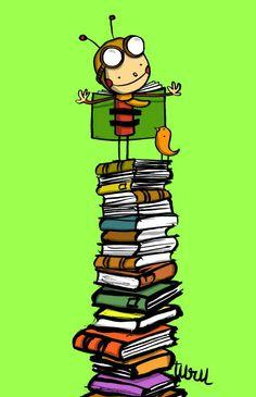 joan turu Reading Posters, Reading Art, World Of Books, My Books, Frame Border Design, Small Drawings, Doodle Icon, Turu, Cartoon Posters