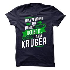 [Popular Tshirt name printing] IAM A KRUGER Shirts Today Hoodies, Funny Tee Shirts