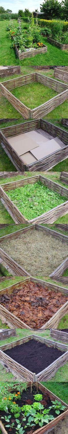 101 Gardening: building lasagna raised bed garden