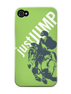 Dapplebay JustJump phone cover in lime.  I'd like this with me on it