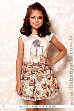BLUSA Infantil Com SAIA Diforini Moda infanto Juvenil 121019