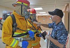Hospital Corpsman 2nd Class Neal Huerta gives instruction to Sailors aboard the Military Sealift Command hospital ship USNS Mercy (T-AH-19). #USNavy