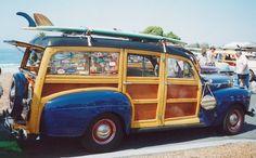 Annual Woodie Meet, Woodie Car Show from Encinitas, California Classic Trucks, Classic Cars, Surf Rods, E Skate, Beach Cars, Woody Wagon, Beach Buggy, Wooden Car, Shooting Brake