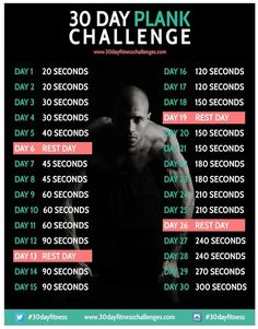 30 day plank challenge - 30 day fitness challenges - celebrity diet and fitness secrets - celebrity exercise and workout - diet and fitness ... New Year's Res...