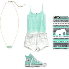 A fashion look from October 2015 featuring H&M tops, H&M shorts and Converse sneakers. Browse and shop related looks.