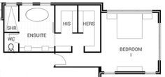 master bedroom bathroom with 2 walk ins - Google Search
