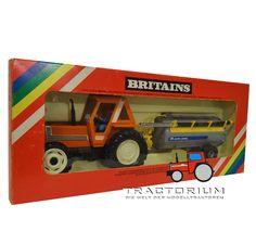 Box Britains 9585 Set Fiat 880 DT Traktor mit Alfa-Laval Vakuum Fasswagen 1/32