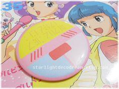"Magical Angel Creamy Mami Inspired 3"" Button Pin for Fairy Kei, Mahou Kei, Magical Girl Fashion"