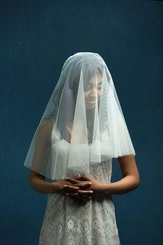 Wedding Veil Drop Veil Circle Veil English by OverTheMoonBridal