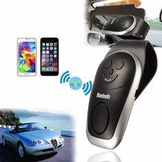 Universal Slim Wireless Bluetooth Handsfree Car Kit Speaker Phone Visor Clip Sale - Banggood.com