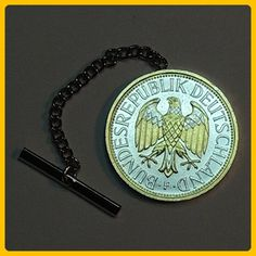 German Eagle Coin, Tie or hat tack - Gorgeous 2-Toned Gold & Silver - Groom cufflinks and tie clips (*Amazon Partner-Link)
