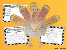 Turkey facts - Thankful Turkey  Use with non fiction reading unit  Find grade level informational text about turkeys